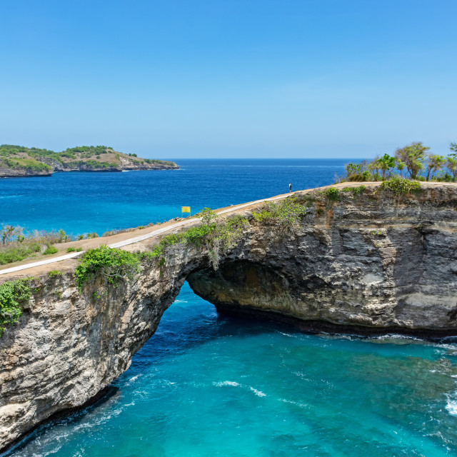 """Broken beach in Nusa Penida island, Bali, Indonesia."" stock image"