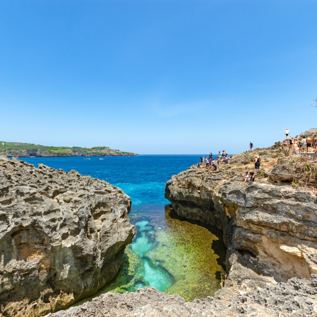 """Angel's Billabong in Nusa Penida island, Bali Indonesia."" stock image"