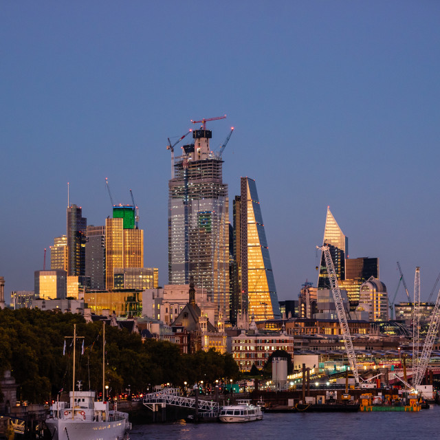 """London skyline 2"" stock image"