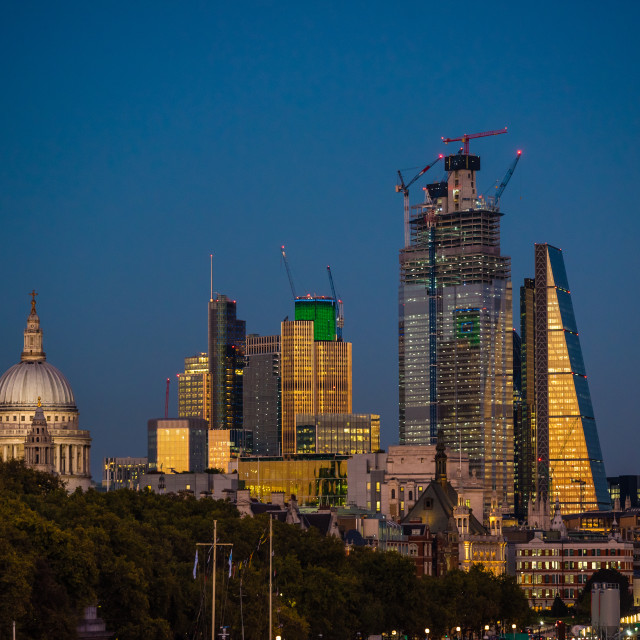 """London skyline 5"" stock image"