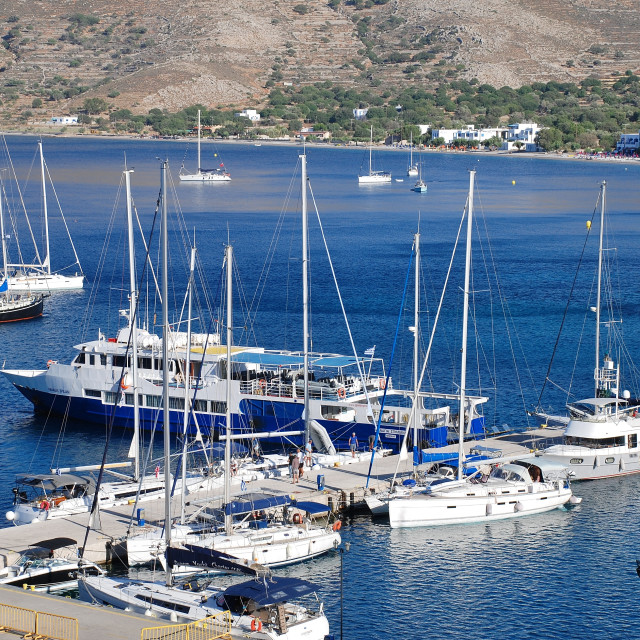 """Livadia harbour, Tilos"" stock image"
