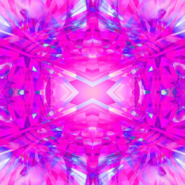 """Colourful kaleidoscope pattern"" stock image"