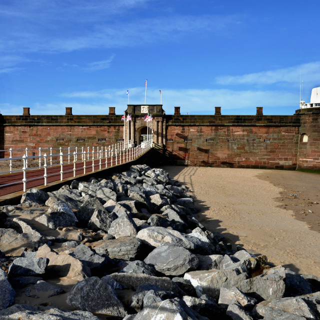 """Fort Perch Rock (New Brighton, UK)"" stock image"
