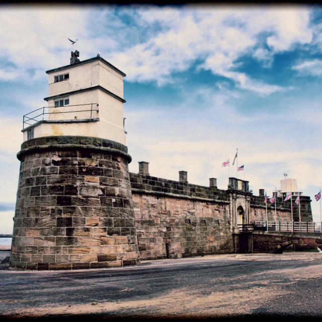 """""""Fort Perch Rock (New Brighton, UK) (Grunged effect)"""" stock image"""
