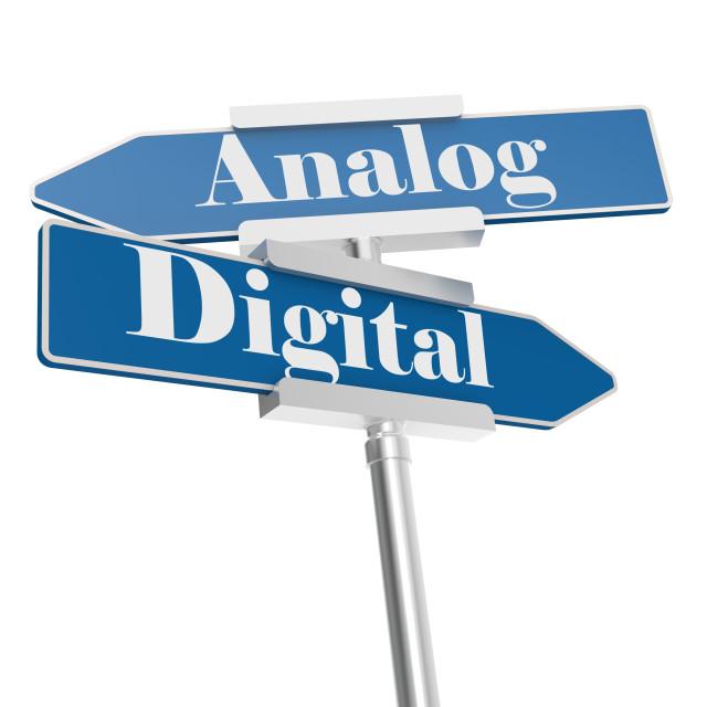 """Analog or Digital signs"" stock image"