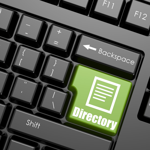 """""""Computer keyboard with word directory"""" stock image"""