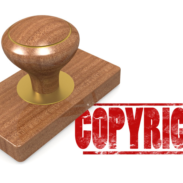 """""""Copyright wooded seal stamp"""" stock image"""