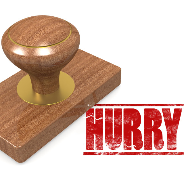 """""""Hurry wooded seal stamp"""" stock image"""