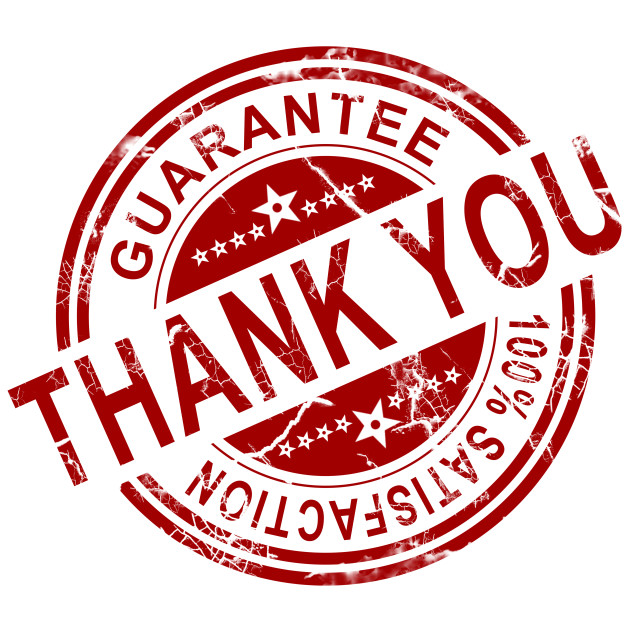"""""""Red thank you stamp"""" stock image"""