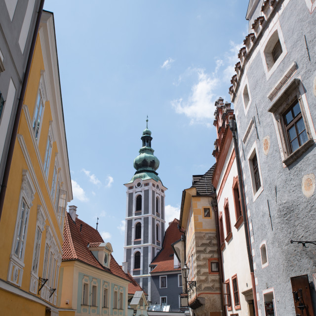 """Old Town Cesky Krumlov"" stock image"