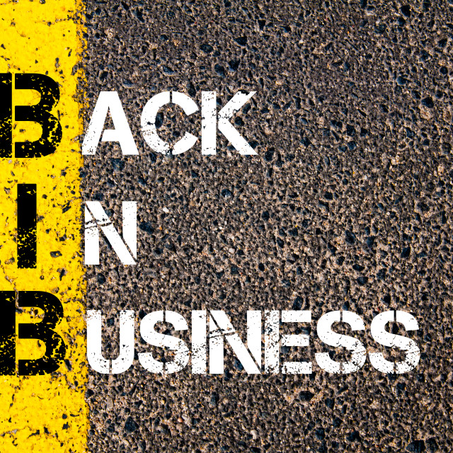 """Business Acronym BIB Back In Business"" stock image"
