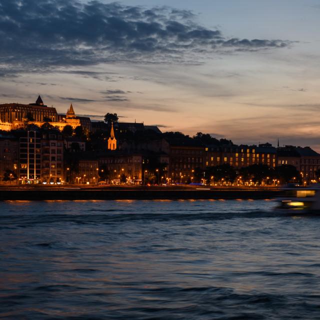 """Budapest at Night"" stock image"