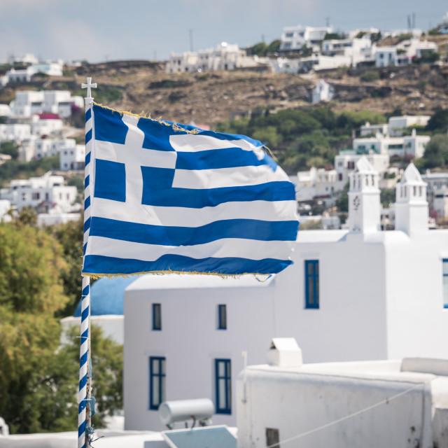 """Greek Flag"" stock image"