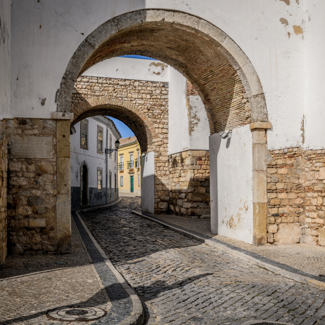 """""""Old town Faro Portugal"""" stock image"""