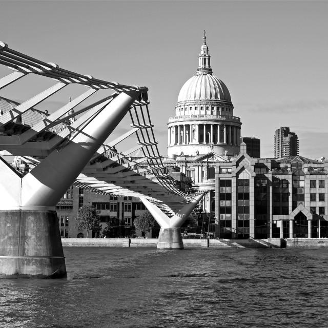 """""""The Millennium Bridge"""" stock image"""