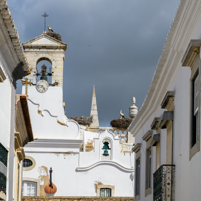 """""""Faro Portugal Bell tower"""" stock image"""