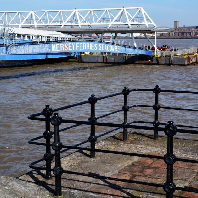 """""""Seacombe Ferry, River Mersey ferry port"""" stock image"""