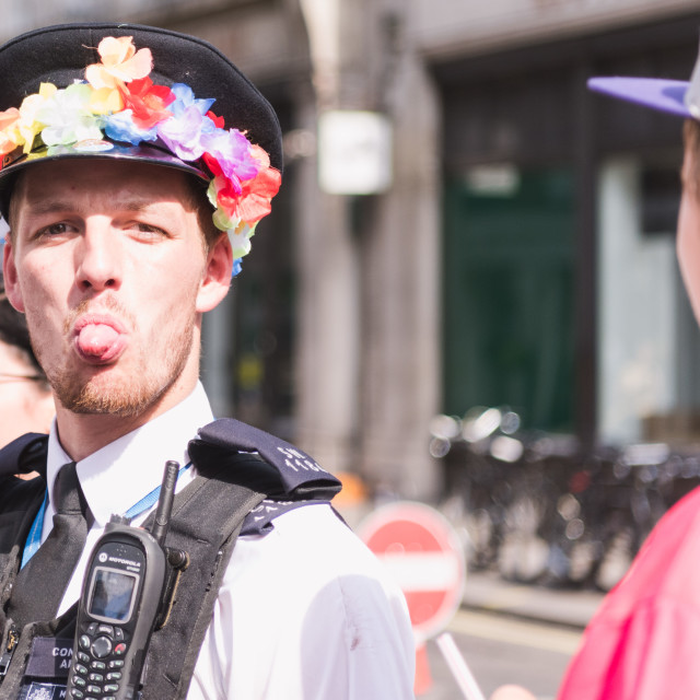 """""""Police Officer at Pride"""" stock image"""