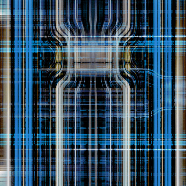 """Blue light trails grid"" stock image"