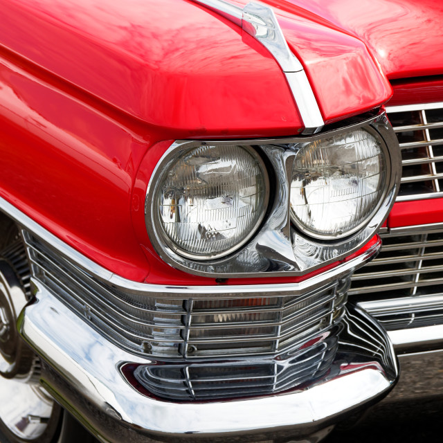 """Red Car Head Light"" stock image"