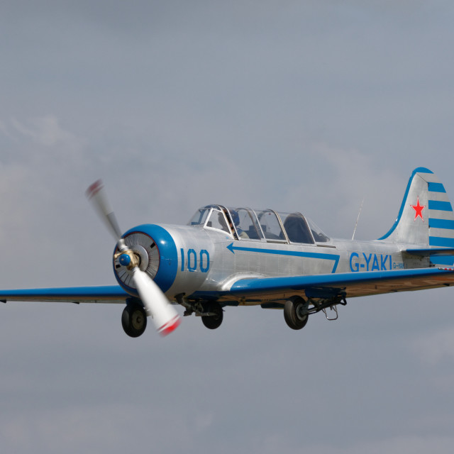 """G-YAKI Yak 52 (Yak One)"" stock image"