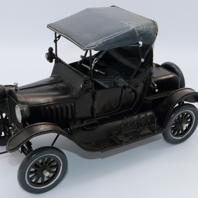 """Antique black model car"" stock image"