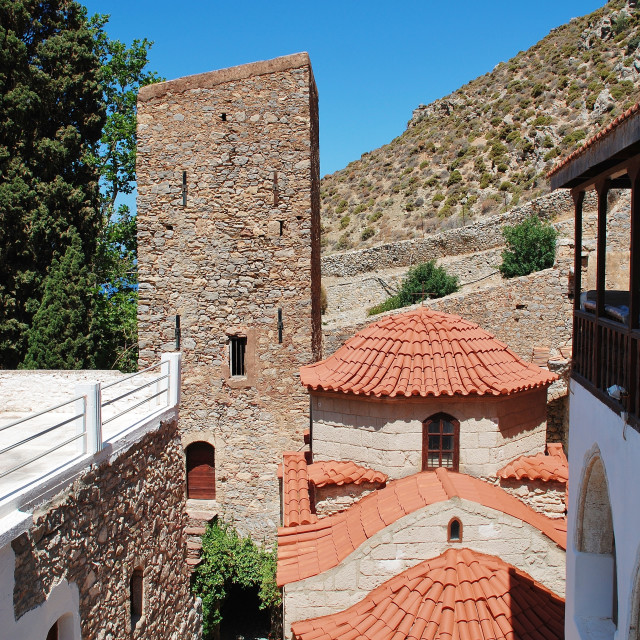 """Byzantine monastery, Tilos"" stock image"