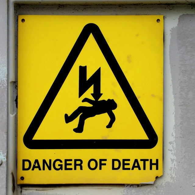 """Danger of death"" stock image"