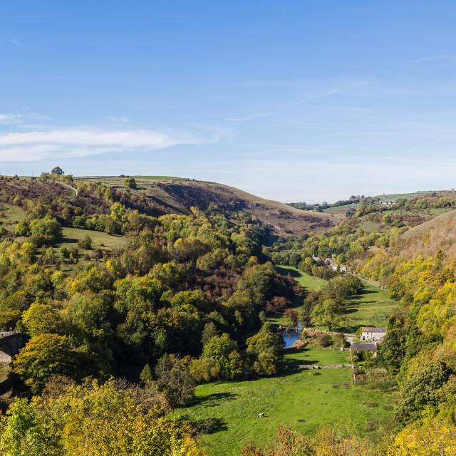 """Monsal Dale panorama"" stock image"