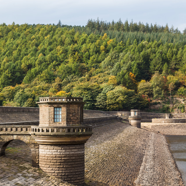 """Ladybower Dam in Derbyshire"" stock image"