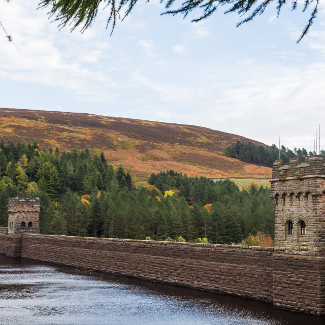 """Derwent Dam in the Peak District"" stock image"