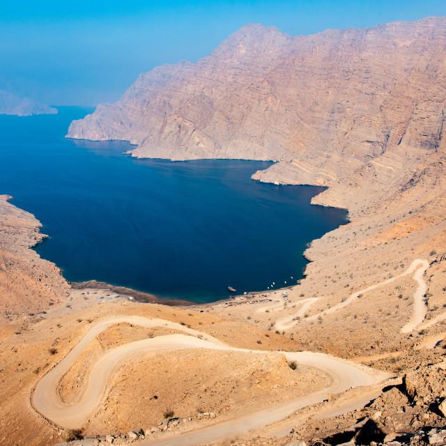 """""""Fjord Khor Najd in Musandam Oman"""" stock image"""