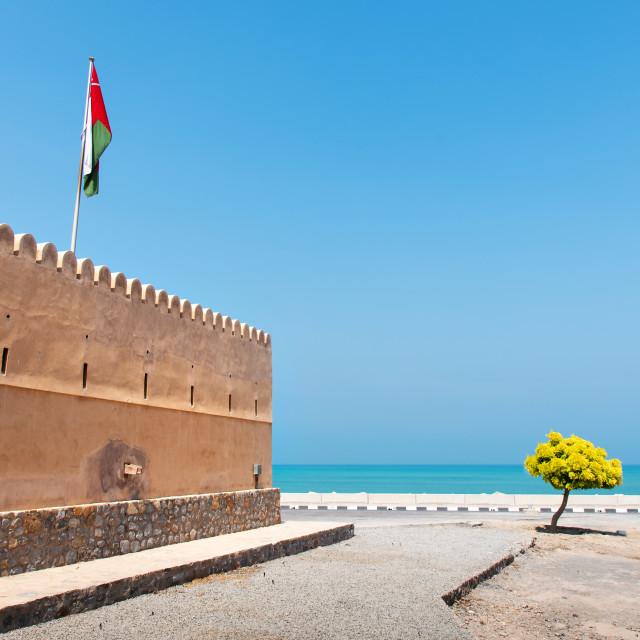 """Bukha fort in Musandam Oman"" stock image"