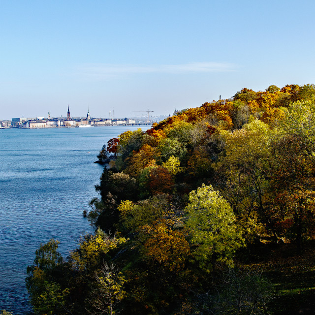 """""""A view over Stockholm"""" stock image"""