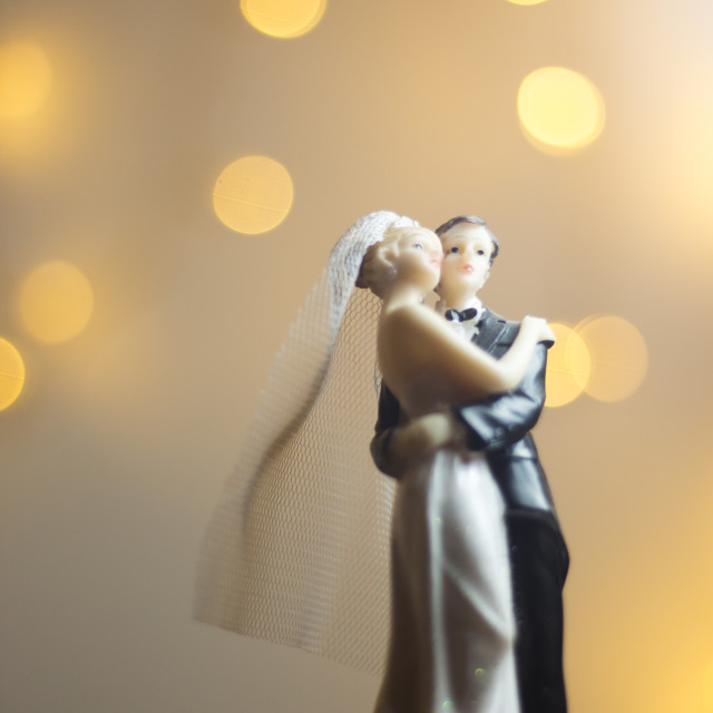 """""""Marriage bride groom cake topper"""" stock image"""