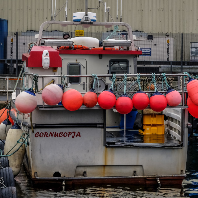"""Buoys on the 'Cornucopia'"" stock image"