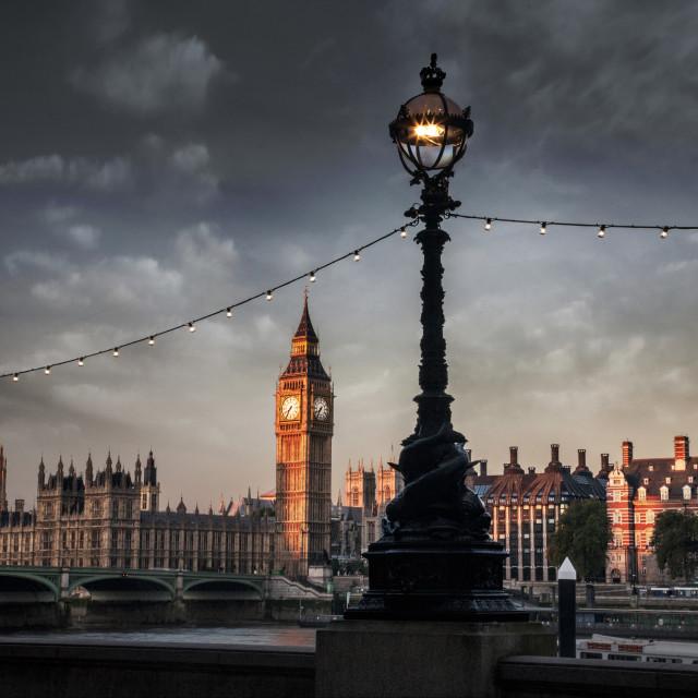 """Dawn on Big Ben"" stock image"
