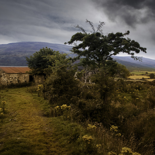 """""""Storm in The Mountains of Mourne"""" stock image"""