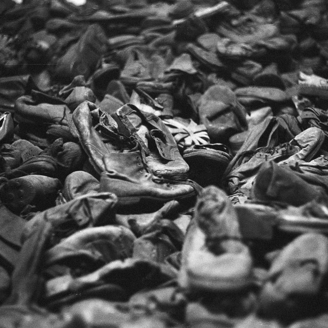 """Shoes Auschwitz"" stock image"