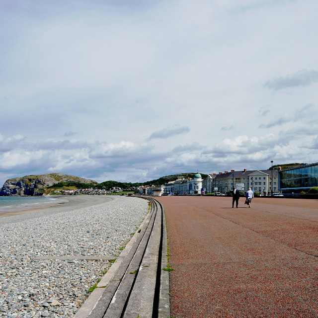 """LLandudno's Iconic Promenade"" stock image"