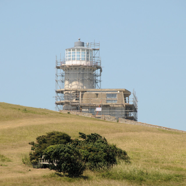 """""""Belle Tout lighthouse near Eastbourne, East Sussex"""" stock image"""