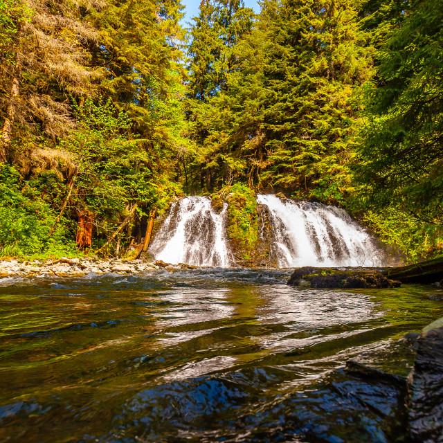 """Silver Creek falls Alaska"" stock image"