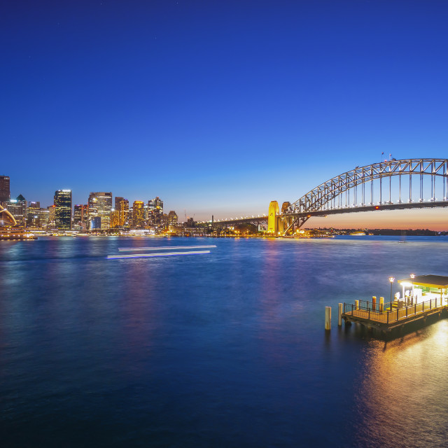 """Beautiful Sunset at Sydney City Skyline"" stock image"