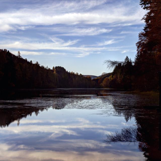 """Millbuies Loch"" stock image"