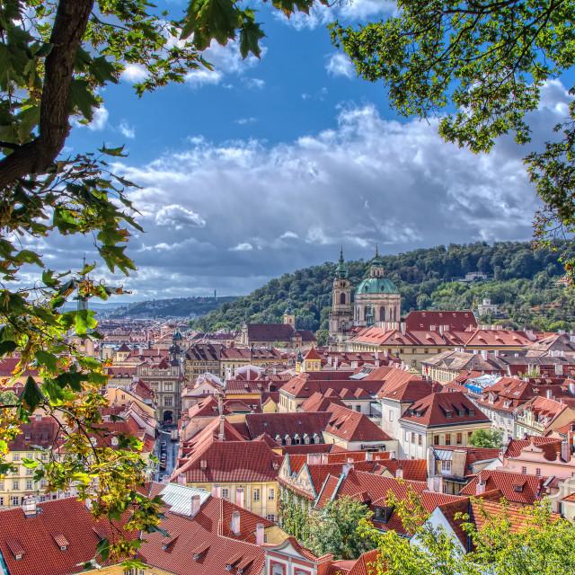 """Saint Nicholas church in Prague city, Czech Republic."" stock image"