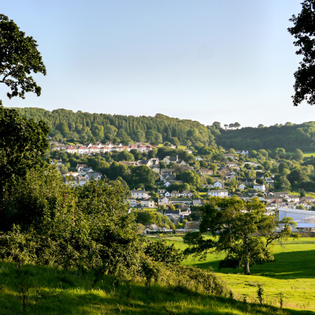 """Lyme Regis Landscape"" stock image"