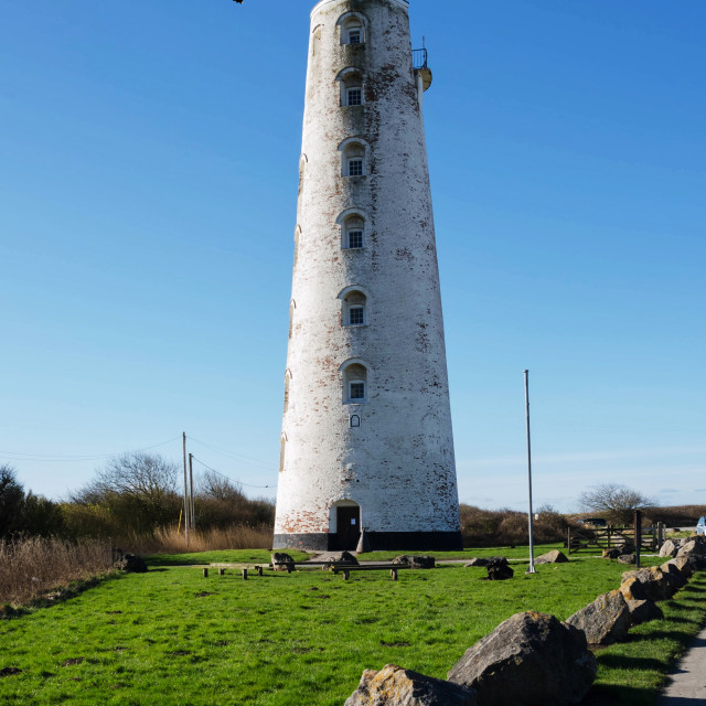 """""""Wirral's Leasowe Lighthouse"""" stock image"""
