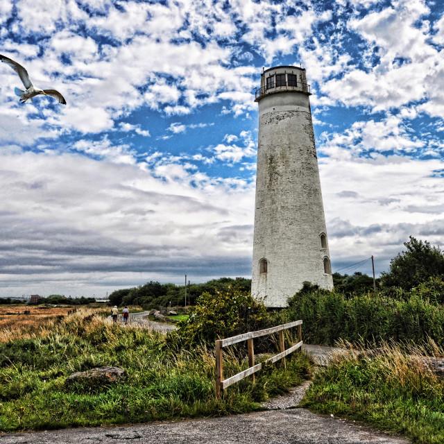 """Wirral's Leasowe Lighthouse (artistic interpretation)"" stock image"