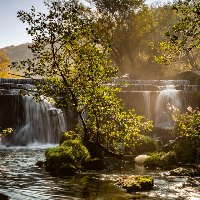 """Monsal Weir Pano"" stock image"