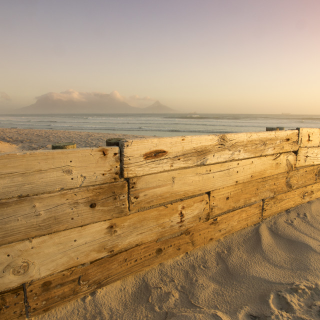 """Sunset view towards Table Mountain"" stock image"